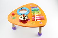 Wholesale colorful percussion orange color table kids music toys early learning music hand on practice baby gift