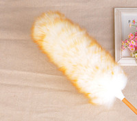 Wholesale Anti Static Real Sheepskin Feather Duster Magic Dust Cleaner House Handle Soft Brush Dirt Tool Dusters