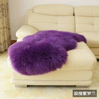 beige leather sofas - Hot sale Pure wool carpet bedroom carpet sofa cushion bed blankets natural leather sheepskin pad cm