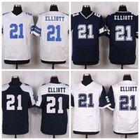 Wholesale Elliott Jerseys for Men cheap Jerseys Stitch Jerseys Discount Sale Best Quality Jerseys Online Blue Jerseys Thanksgiving Blue Shirts