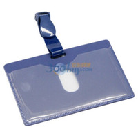 Wholesale box Horizontal PP Card ID Holders Case Business Badge Card Holder Company amp office Supplies stationary Deli