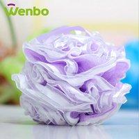 Wholesale lace leobard print bath ball companion showers bath flower sponge mesh bath ball site