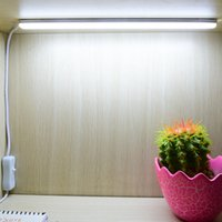 bar cooler table - LED Desk Lamp V USB Night Study Reading Book Light Dormitory Cabinet Closet Light LED Bar Strip Table Lamp with Switch