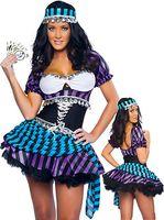 al por mayor nuevo llega los trajes atractivos-La Al por mayor-Alta calidad nueva llega la princesa Dress Sexy Pirata Disfraza el traje del partido del carnaval de la mascarada