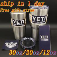 beer mugs gift - Yeti oz Free gift straw Stainless Steel Insulation YETI Cup Cars Beer Mug Large Capacity YETI Mug Tumblerful with YETI logo