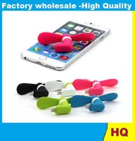 Wholesale Mini Micro USB Mobile Phone Fan Portable Flexible Low Noise USB Fan For IPhone Android Phones With Package