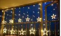application christmas light - Christmas string holiday lights on ice stars light curtains wedding decoration lights colour Warm white Main scope of application Family w