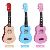 acoustic guitars kids - Sea shipping Quality Professional inch Small Acoustic Soprano Ukulele Musical Instrument children kids gifts ZJ