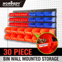 Wholesale HORUSDY HORUSDY Bins Wall Mount Parts Rack Screw Parts Stackable Combinational Storage Stacking Bins Pack of