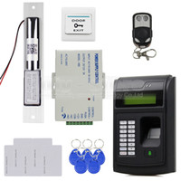 Wholesale Remote Control Access Control System KHz RFID LCD Fingerprint Keypad ID Card Reader Kit Electric Bolt Lock I S
