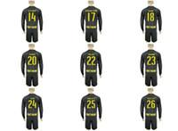 Wholesale NEW Uniforms Kit Soccer Jersey Borussia Dortmund Reus Aubameyang SCHURRLE GOTZE Away Black Long Sleeve Jerseys