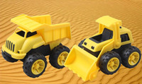 abs cement - Kids Toys Pull Back ABS Car Engineering Truck Model Excavators Cement Concrete Mixer Loarder Truck Beach Toy Vehicles for Boy