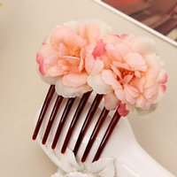 Wholesale 8 Brand New Womens Double Camellia Flower Hair Comb Bridal Wedding GE05191