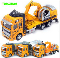Wholesale 1 Pull Back Alloy Car Engineering Truck Model Excavators Cement Concrete Mixer Dumpers Diecasts Toy Vehicles for Boys