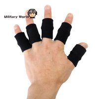 Wholesale Stretchy Finger Support Tape Beathable Sleeve Guard Basketball Sports Safety Fingerstall Nylon High Elastic Caps Protector