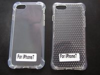 Plastic apple diamond - Anti knock Airbag Clear Diamond Soft TPU Gel Case Gold Gray Crashproof Gel Checkered Silicone Cover Skin For iPhone7 Iphone g th I7
