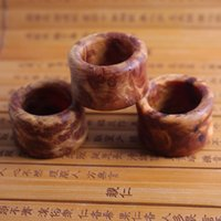 Wholesale traditional Chinese wooden ring Male wooden ring made by Thuja sutchuenensis Retro courtstyle used for decorate and perform