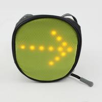 bicycle basket light - Cycling Bicycle LED Turn Signal Bag Bike Baskets Saddle Rear Seat bag LED pannier With LED Light Turn Indictor waterproof