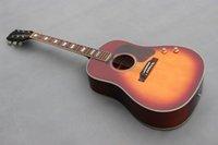 Wholesale Dard color cereza estalló guitarra tapa de abeto maciza chapa sapele espalda y lado de la guitarra eléctrica acústica