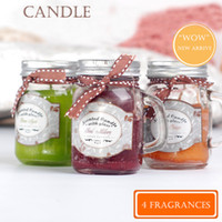 Jar aroma scented candles - 15Hours Scented Candles Cock Glass Cup Candle With A Variety Of Fragrance Aroma Paraffin Wax Aromatherapy Candles Product Code