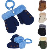 Mittens Unisex 2-4T Winter Baby Gloves Full Finger Kids Mittens Warm Cotton Children Mittens(20pcs)Free gift for children