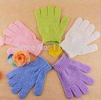 Wholesale Factory price Exfoliating Bath Glove Five fingers Bath Gloves