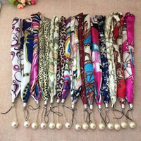 badge iphone - scarves Colorful Necklace Lanyard Hand Straps Nylon Short Hang Wrist Ropes for Ipad Cell Phone MP3 MP4 Camera ID Card Badge