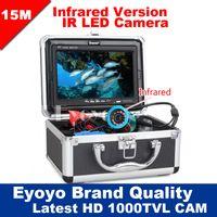 Wholesale Eyoyo Original M Professional Fish Finder Underwater Fishing Video Camera quot Color Monitor TVL HD CAM pc Infrared lights