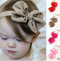 animal photography - Infant Chiffon Bow Headbands Girl Headband Children Hair Accessories Newborn Bowknot Hairbands Baby Photography Props Color