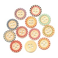 Wholesale mixed mm hole Painted wooden sunken four hole buttons mm fine candy colored buttons