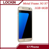 Wholesale Metal shell cellphone S7 MTK Quad Core GB GB MP smartphone DHL FREE Seal box VS i6s S6 I6S Plus note5 Mobile phone
