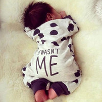 baby cow costumes - Infant Baby Boy Girl Romper Clothes Spring Autumn Newborn Cow Letter Cotton Jumpsuit Dot One Piece Clothing Costume