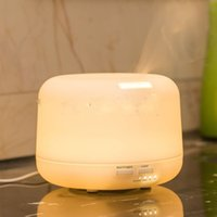 auto ml - 500 ml Essential Oil Diffuser for Aromatherapy Cool Mist Air Humidifier with Color LED Lights Changing and Waterless Auto Shut off Gre