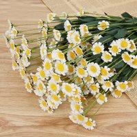 Главная Цветочный декор 1 Букет Искусственный Дэйзи цветы из шелка для свадебного украшения сада Дисплей Цветы Настенные