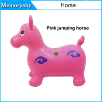 Wholesale Children s Kids inflatable Toy jumping horse jumping deer jumping cow cm thickening Increased PVC toys