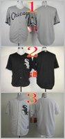 Wholesale Mix Order Stitched Baseball Jerseys chicago white sox Blank White Gray Black Cheap MLB Jersey