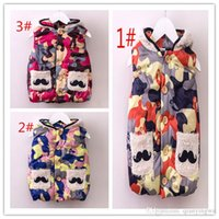 Wholesale 2016 Spring children girl Vest fashion vest all match sleeveless cardigan single breasted camouflage Waistcoat a set for sales A022242
