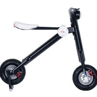 Others Others Others Wholesale-2016 New Foldable Electric Scoot Portable mobility scooter Electric two-wheels electric bike Kick scooter-Black Color