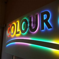 Wholesale Factory Outlet Outdoor stainless steel back lit LED letter signs