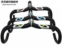 Wholesale Superlogic carbon fiber road handlebar bent bar integrated with stem inner routing computer mount bicycle parts