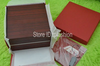 13032 Wood Brown Luxury Original Wood Box for Watch Book Card Top Gift Jewelry Bracelet Bangle Display Leather Brown Storage Case Pillow 3032