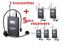 Wholesale Boutique wireless tour guide system voice device teaching earphones Transmitter pc Receiver MIC earphone