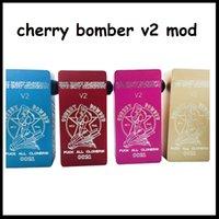 Splatter Cherry Bombardero v2 Box Mod Clone Vaporizador Cuadrado Mods mecánicos 7 Colores Fit ONE 18650 batería de DHL free