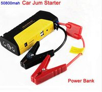 Wholesale 50800mAh Mini Car jump starter engine booster car emergency jump starter car power bank charger for Mobile Phones Laptops DHL fast