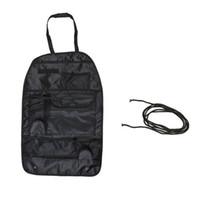 Wholesale Hot Sale Car Auto Vehicle Seat Back Organizer Storage Bag Multi Pocket Holder Black Dropshipping order lt no track