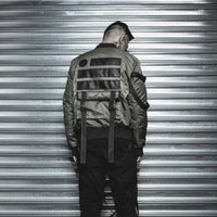 accordion stand - MA1 jackets AIR force sports jackets Military bomber casual jackets patch embroidery sling jacket accordion pocket men man