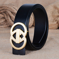 Wholesale 2016 new design Luxury brand men belt cow skin for men Genuine leather casual jeans special fashion solid brass buckle