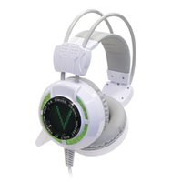 big computer games - Gaming Headphones with Microphone Wired Headset Built in Vibration Unit LED Lights for PS4 Game Cumputer and Obox One Big Earmuff Cover Ear