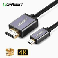 Wholesale Ugreen Micro HDMI to HDMI Cable M Gold Plated D K P High Premium Cable Adapter for HDTV XBox Mobile Phone Table Cable