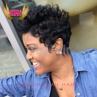 baby afro wig - 130 Density Short Virgin Indian Human Hair None Lace Afro Tight Curly Wigs For Black Women With Baby Hair